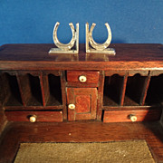 Doll House Silver Bookends in Horseshoe Design