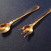 Meyer Miniature Sterling Salad Spoon and Fork