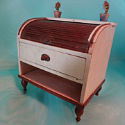 Miniature Roll Top Desk with Drawer