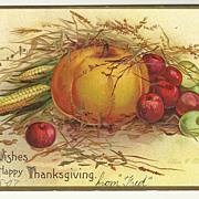 SALE 1907 Clapsaddle Thanksgiving Harvest Postcard