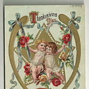 SALE Victorian Style Thanksgiving Postcard