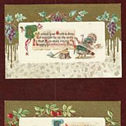 SALE Set of J. Herman 1912 Thanksgiving Postcards