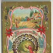 SALE Highly Decorative Winsch Thanksgiving Turkey Postcard