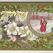 SALE Richly Colored Gottschalk, Dreyfuss & Davis Christmas Postcard