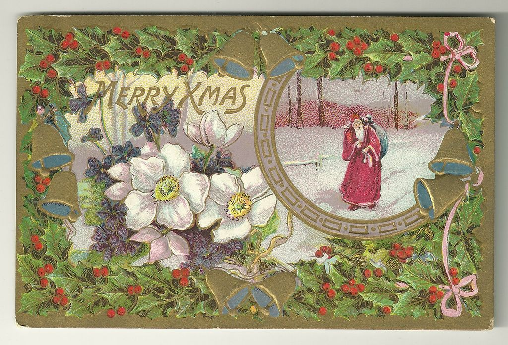 Richly Colored Gottschalk, Dreyfuss & Davis Christmas Postcard