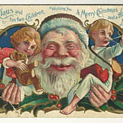 "SALE Extra Jolly Santa with ""his two Children"""