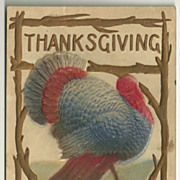 Vintage Embossed Airbrushed Turkey Postcard