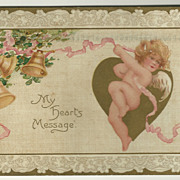 Cupid Valentine Postcard - Tuck Series 105