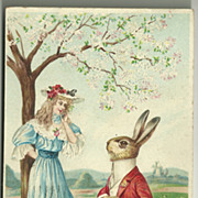 Easter Postcard - Alice in Wonderland?