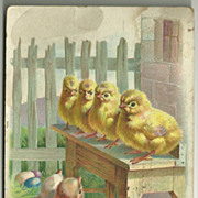 Tuck Easter Chicks Postcard with Undivided Back