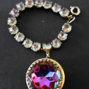 Schiaparelli Watermelon Heliotrope Charm Bracelet