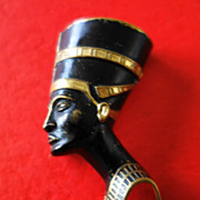 Blackamoor Ancient Egyptian Head Brooch