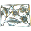 Vintage Brooch Sterling Flowers 1950's