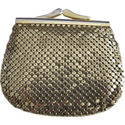 Vintage Gold Mesh Whiting and Davis Money/Coin Purse!