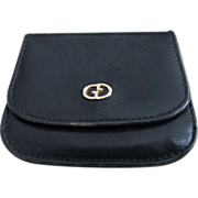 Vintage Black Gucci Coin Purse!
