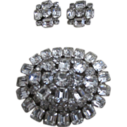 Vintage Weiss Brooch with Matching Earrings!