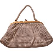 Vintage White Mesh Whiting and Davis Purse!