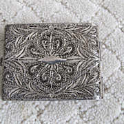 Vintage Sterling Calling Card Case.