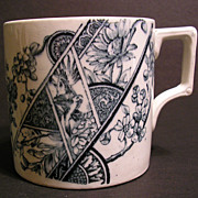 Aesthetic Movement Transferware Mug, Cup, F. Winkle & Co., 1888