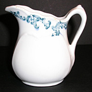 Wood & Sons 1909 Ironstone, Blue Transferware Creamer