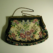 Petit Point Floral Purse