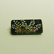 Micro Mosaic Brooch, Lily-of-the-Valley Motif