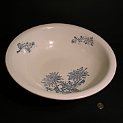 Transferware Wash Bowl, Chrysanthemums