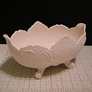 Jeannette Shell Pink Lombardi Footed Bowl