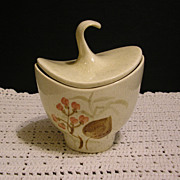 Red Wing Pottery Random Harvest Sugar Bowl with Lid