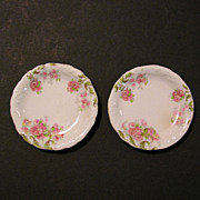 Butter Pat Pair, Pink Roses