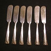Baroness Silverplate Personal Butter Spreaders Set
