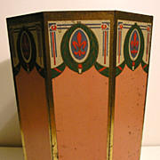 SOLD Outstanding Art Deco Octagonal Wastebasket.