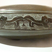 Mid 20th Century Bronze Chinese Styled Lo Brush Washer