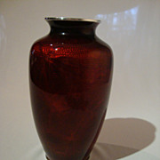 Pigeon Blood � Akasuke on Basse-Taille Cloisonne Vase