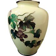 Ando Jubei Cloisonne� Vase with Shakudo Mounts