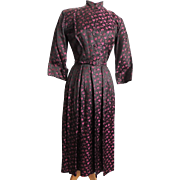 Vintage Ceil Chapman Dress 50�s Brocade Day Dress Sz S