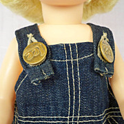 Vintage Lee Denim Overalls, Possibly for Terri Lee or Buddy Lee