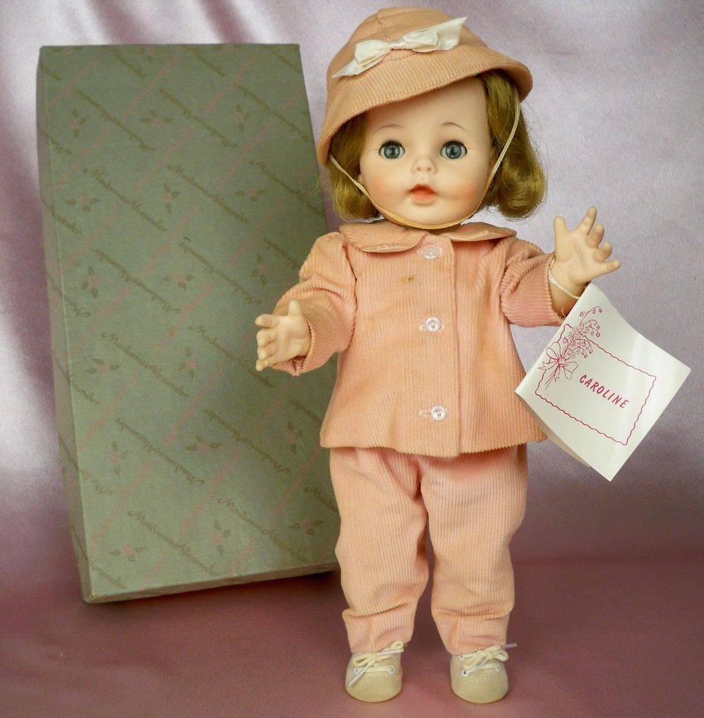 1960s Madame Alexander Caroline Kennedy with Box 4930 and Tagged Pink Outfit 14 inch