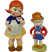 Vintage Skippy and Dutch Girl Porcelain Figurine, Early 20th Century