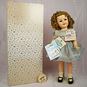 Shirley Temple 17 inch Boxed, Tagged 1958-1962, Hard Plastic Body, Vinyl Head 1410. Beauty!