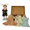 Adorable German Bisque 7 inch with 10-piece Wardrobe and Box. Shoulder Head, 6343
