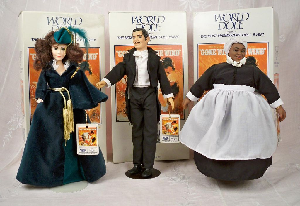Scarlett, Rhett, Mammy, 1967 Gone with the Wind World Dolls, Tagged and MIB