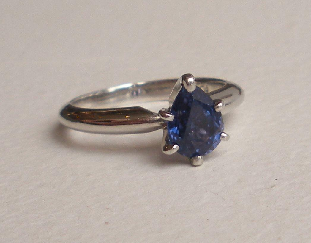 platinum blue sapphire engagement ring from growgallery on