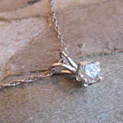 Diamond Solitaire Pendant With Chain