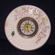 Majolica Shelf Clock with New Haven Clock Works
