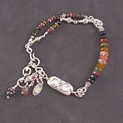 SOLD Tourmaline and sterling silver bracelet