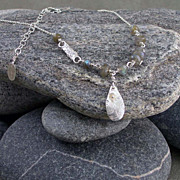 SOLD Sterling silver and labradorite necklace