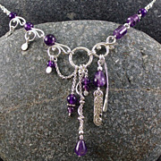 New wine - sterling silver and amethyst necklace