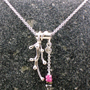 Sterling silver and tourmaline necklace