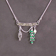Sterling and emerald necklace